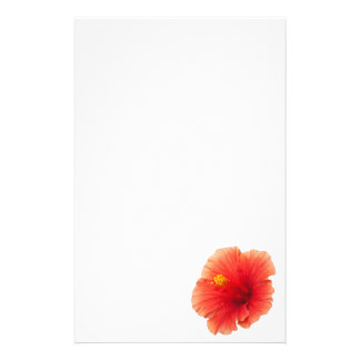 Orange Yellow Hibiscus Tropical Flower Floral Stationery