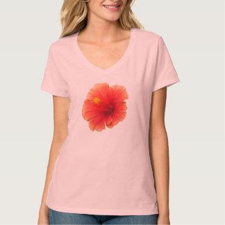 Orange Yellow Hibiscus Tropical Flower Hawaii T-Shirt