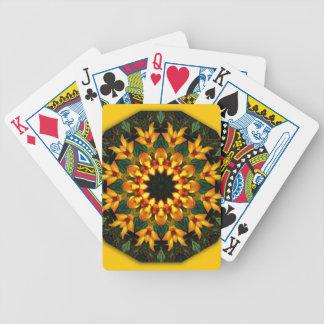 Orange Yellow Iris Nature, Flower-Mandala Poker Deck