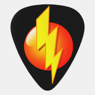 Orange Yellow Lightning Bolt Pick