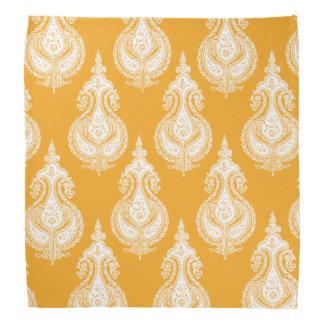 Orange Yellow paisley pattern Bandana