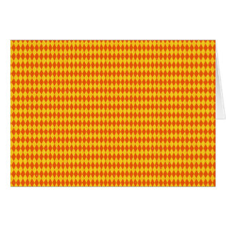 Orange Yellow Pattern Blank Inside Card