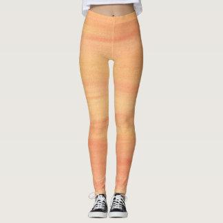 Orange Yellow Peach Blends Blended Leggings