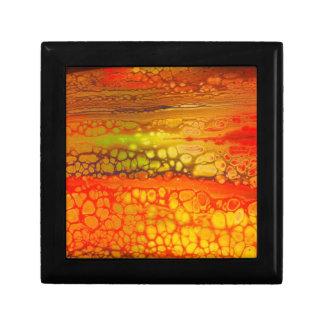 Orange yellow Red Medley of Cells Artwork gift box