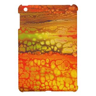 Orange yellow Red Medley of Cells Artwork iPad Mini Case