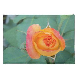 orange yellow rose flower placemat