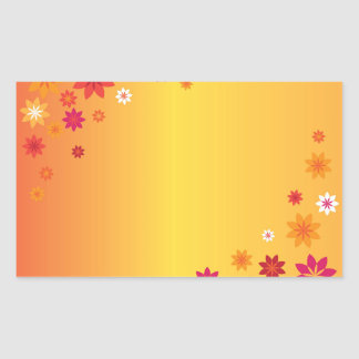Orange Yellow Spring Flowers Sticker
