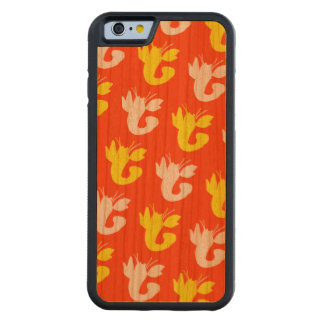 Orange Yellow Vibrant Lobsters Carved Cherry iPhone 6 Bumper Case
