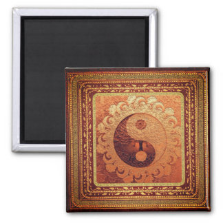 Orange Yin Yang Magnet