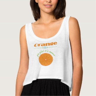 Orange You Glad It's Summer with Orange Slice Tank Top