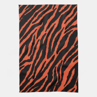 Orange Zebra Kitchen Towel