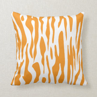 Orange Zebra Print American MoJo Pillow