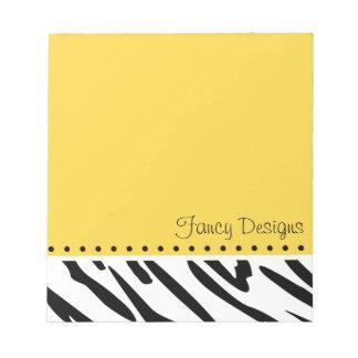 Orange Zebra Print Notepad