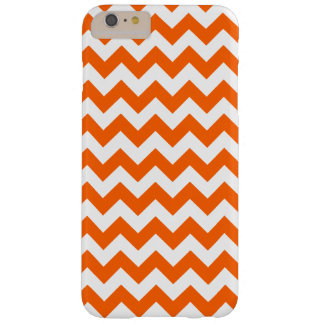 Orange Zig Zag Pattern Barely There iPhone 6 Plus Case
