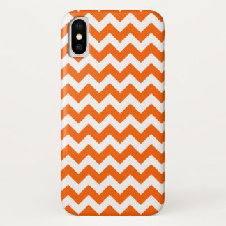 Orange Zig Zag Pattern iPhone X Case