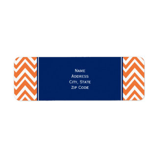 Orange Zigzag Pattern with Royal Blue