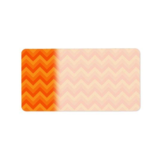 Orange Zigzag Stripes.