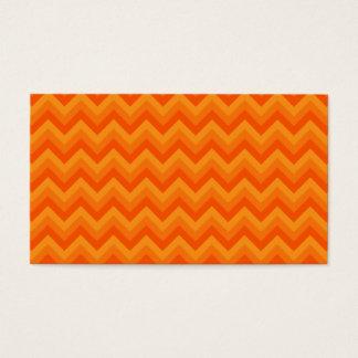 Orange Zigzag Stripes. Business Card