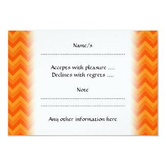 Orange Zigzag Stripes. Card