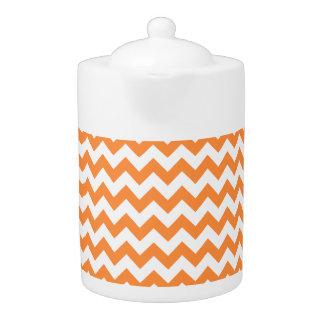 Orange Zigzag Stripes Chevron Pattern
