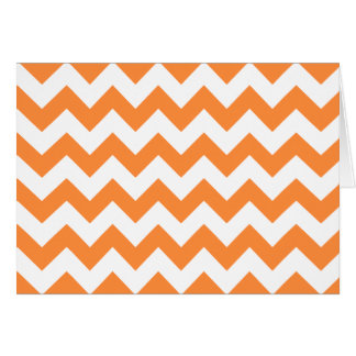 Orange Zigzag Stripes Chevron Pattern Card