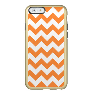 Orange Zigzag Stripes Chevron Pattern Incipio Feather® Shine iPhone 6 Case