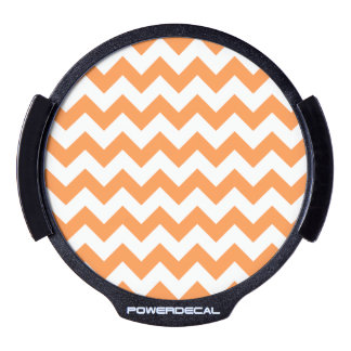 Orange Zigzag Stripes Chevron Pattern LED Window Decal