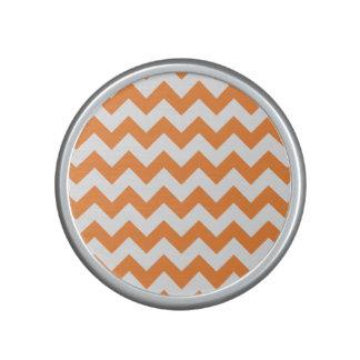 Orange Zigzag Stripes Chevron Pattern Speaker