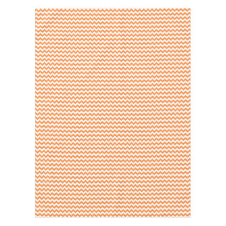 Orange Zigzag Stripes Chevron Pattern Tablecloth