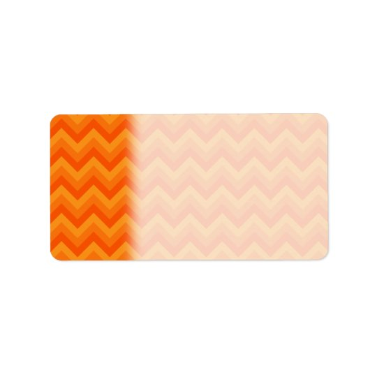 Orange Zigzag Stripes. Label