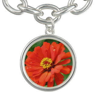 Orange Zinnia Bracelets