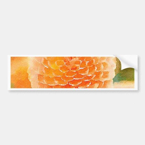 Orange Zinnias Bumper Sticker