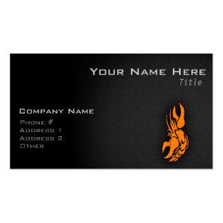 Orange Zodiac Cancer Sign Business Card Templates