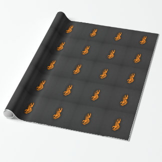 Orange Zodiac Cancer Sign Gift Wrapping Paper