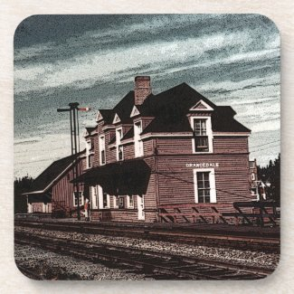 Orangedale Railway Station Cape Breton Nova Scotia Drink Coaster