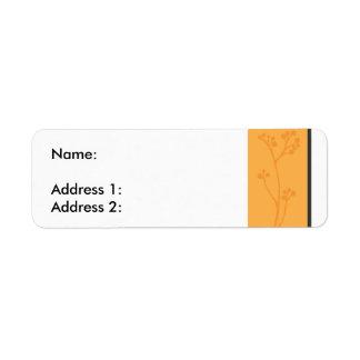 OrangeFlower Étiquette D'adresse Retour