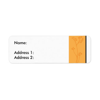 OrangeFlower Return Address Label