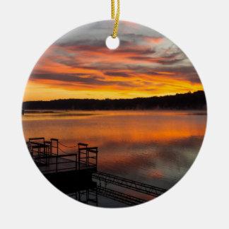 Orangelicious Morning Ceramic Ornament