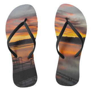 Orangelicious Morning Flip Flops