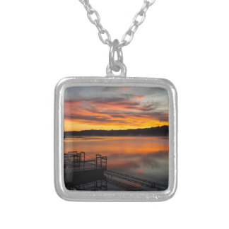 Orangelicious Morning Silver Plated Necklace
