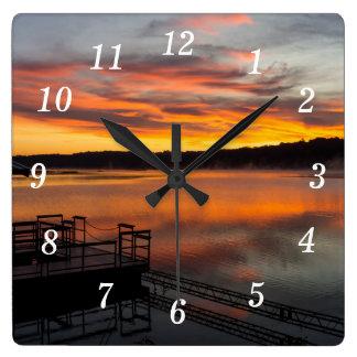 Orangelicious Morning Square Wall Clock
