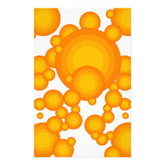 Oranger 70s styling circles like bubbles stationery