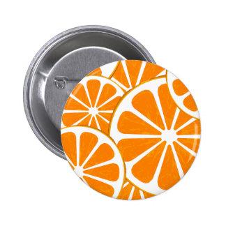 oranges. 2 inch round button