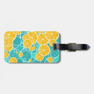 Oranges and bubbles bag tag