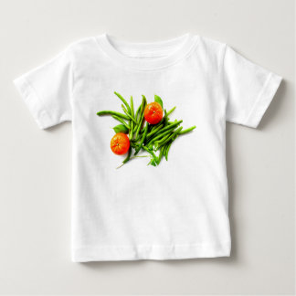 Oranges and Green Beans Baby T-Shirt