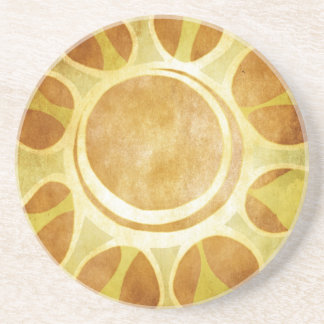 Oranges and Lemons - Golden Sunflower Batik Coaster