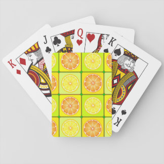 Oranges And Lemons Playing Cards