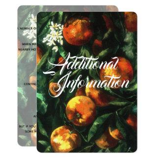 Oranges Botanical Additional Information Card