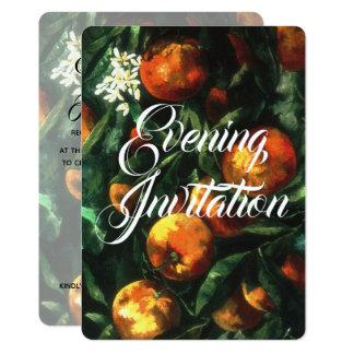 Oranges Botanical Evening Invitation
