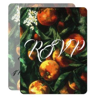 Oranges Botanical Wedding RSVP Card
